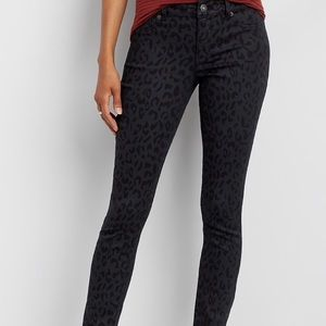 NWT Maurice's Black Leopard Print Jeggings